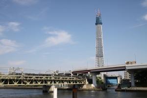 スカイツリーと東武電車